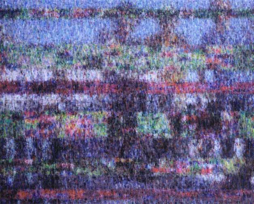 BLOCk NOISE IMAGE(glich,venezia), 130.3x162cm, oil on canvas, 2007