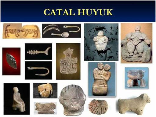 Asentamiento de Catal Huyuk (Turquía). Del 7.500 al 5.000 a.c. sin muros defensivos ni rastros de guerras o invasiones.