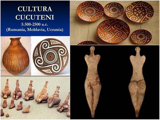 Hace 7.500 años la cultura de Cucuteni floreció en terrenos de la actual Rumanía, Moldavia y Ucrania. Durante más de dos mil años no hay rastros de guerras o invasiones