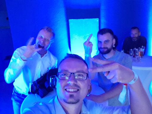 Andree Hörmann, Ric und André beim Ausstellerabend der Fishing Masters Show 2019 in Stralsund