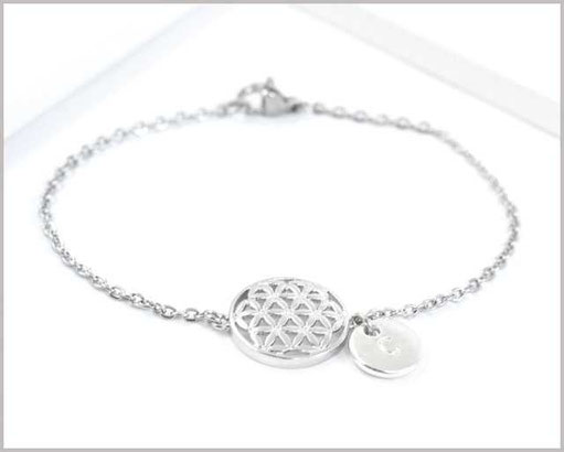 Armband mit Blume des Lebens und Wunschbuchstaben  14,90 €