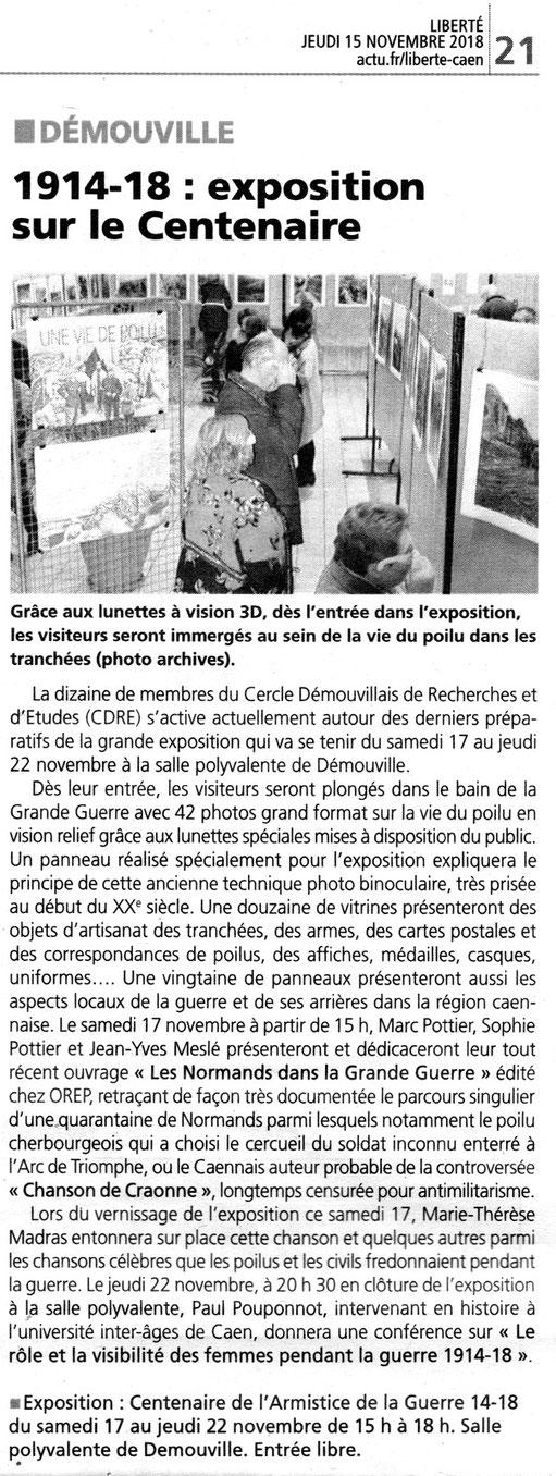 Liberté - 15/11/2018