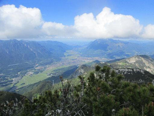 Zwei Tage nach dem Rennen gings nochmal hoch auf den Osterfelderkopf - endlich konnte die Aussicht in Ruhe genossen werden :)