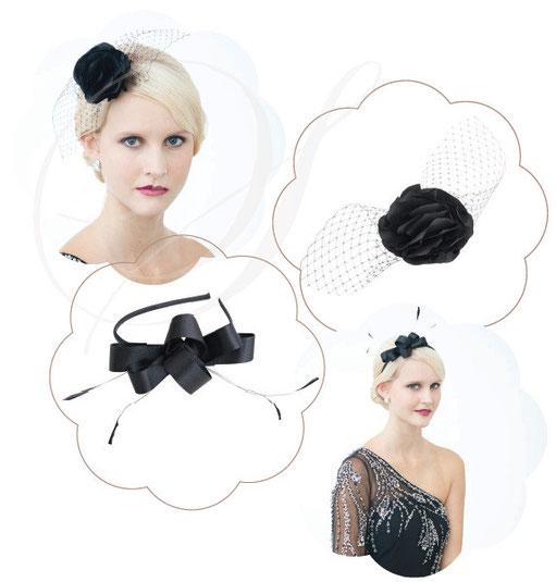 Headpieces für Weihnachtsfeiern, Businessevents, Galas, Silvester oder die Ballsaison.