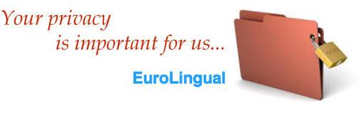 プライバシーポリシー。 Your privacy is important for EuroLingual。 Euro-Lingual、ヨーロッパ語のユーロリンガル, 大阪梅田。