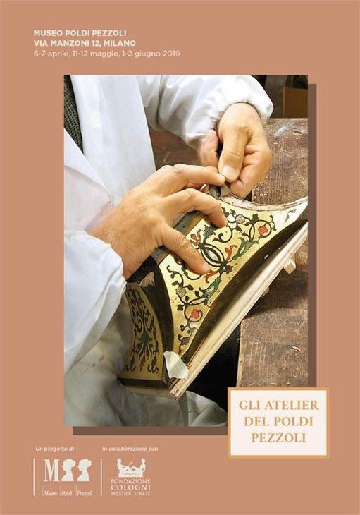 Brochures at Poldi Pezzoli atelier - Conti Borbone - Museo Poldi Pezzoli event