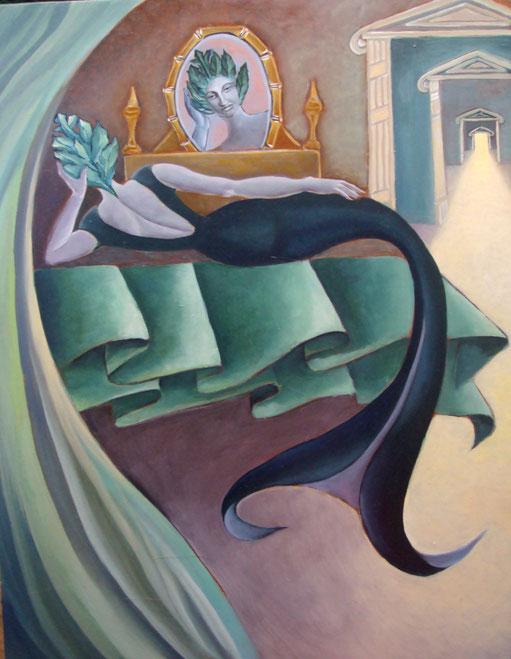 sirène au miroir