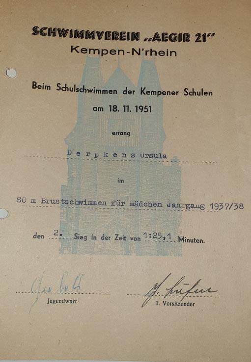 80 Meter Wettkampf 1951