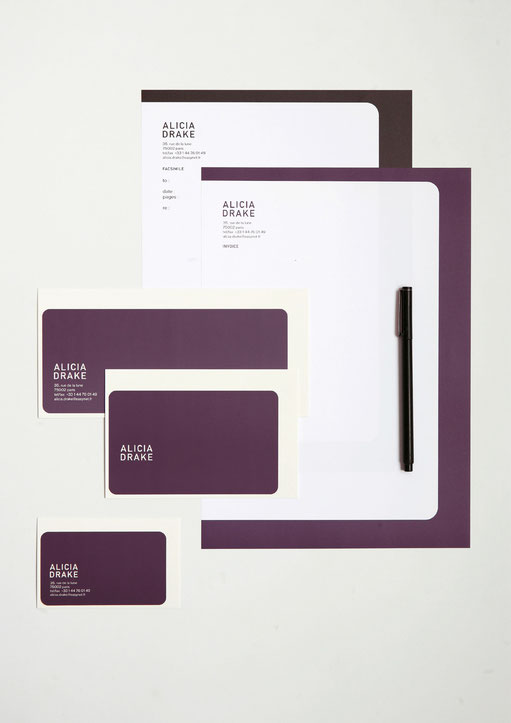 art direction, graphic design, aude buttazzoni, stationery, alicia drake