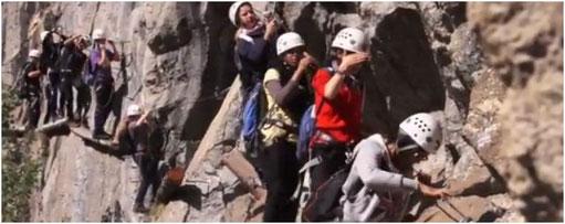 Klettersteig mit Schulklassen