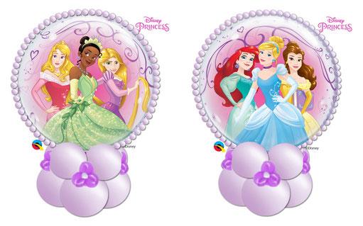 Ballon Luftballon Bubble Princess Disney Prinzessin Cinderella Geschenkballon Geschenk Party Kindergeburtstag süß Blumen Überraschung Mädchen Kind Geburtstag