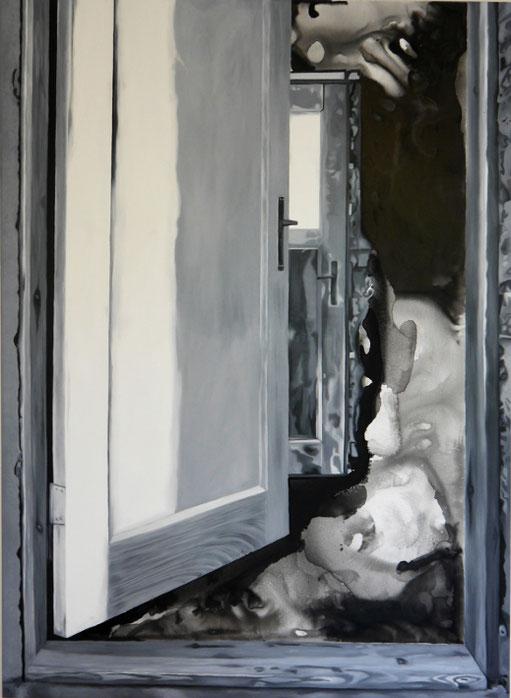 ohne Titel#2, Öl- und Wasserfarbe auf Leinwand, 170cm x 125cm, 2021