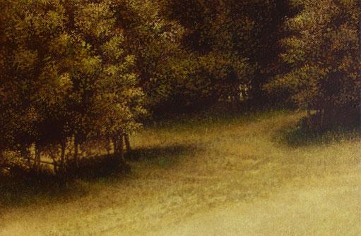 lisière - détail - acrylique sur bois - 2004 - M.Pavlïn
