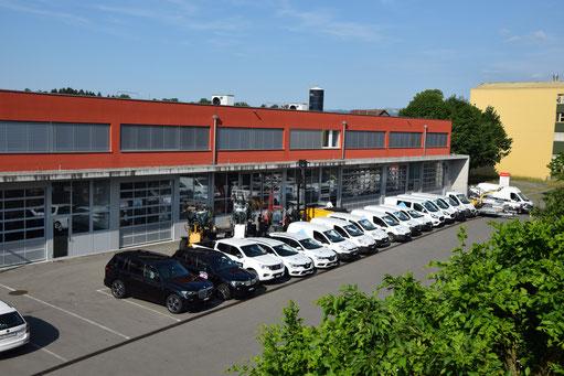 Fahrzeugflotte Interno AG Juli 2019 mit knapp 20 Fahrzeuge
