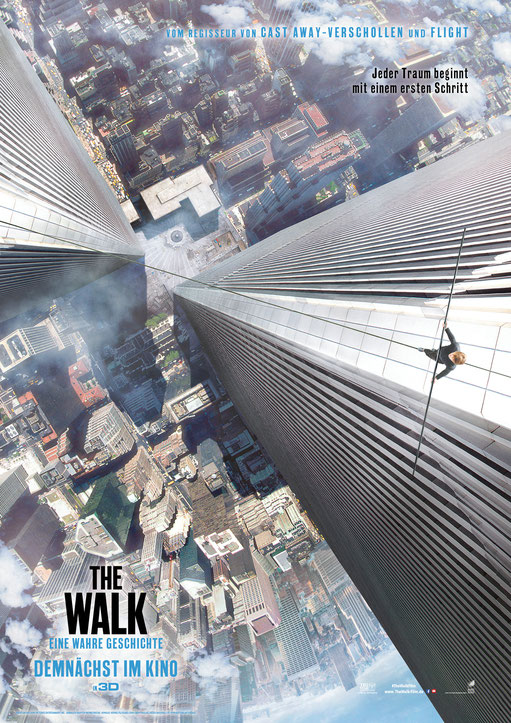 The Walk Trailer - Robert Zemeckis - Zurück in die Zukunft - World Trade Center - Philippe Petit - Sony - kulturmaterial