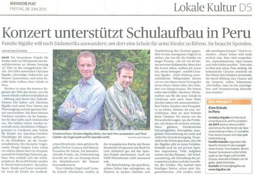 © Rheinische Post 28.06.2013