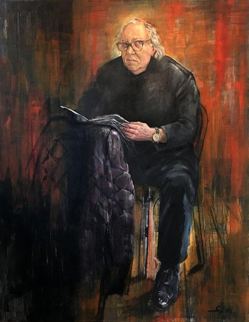 R. Lewitzki, Kunst und Antiquitäten, Oel auf Leinwand, 2016/17, 1800x1400 mm