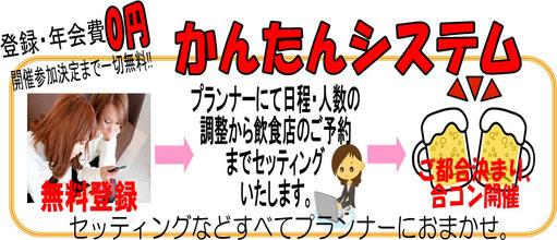 登録・年会費0円 開催参加決定まで一切無料!! かんたん登録システム
