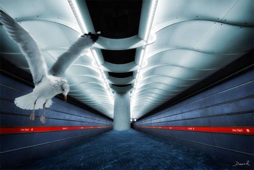 U-Bahnhof Am Hart München HDR Fotomontage