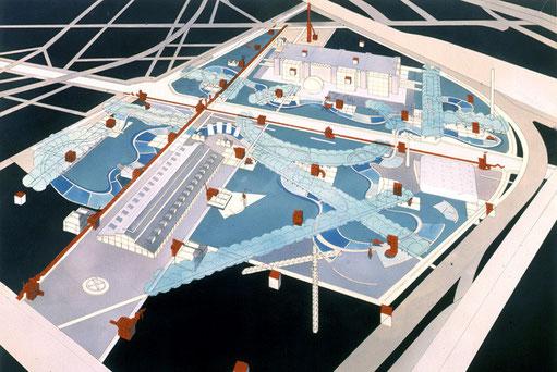 Bernard Tschumi, Parc de la Villette  1982-1998.