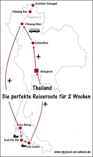 Reiseroute Thailand 2 Wochen