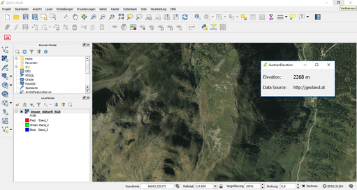 "Q-GIS 2 Plugin ""AustrianElevation"""