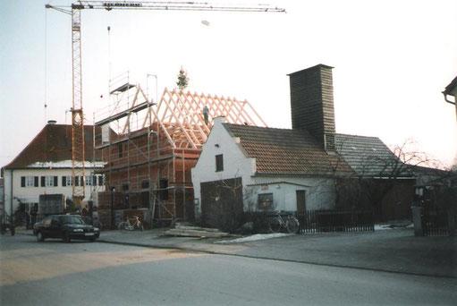 Bau des Feuerwehrhauses 1996