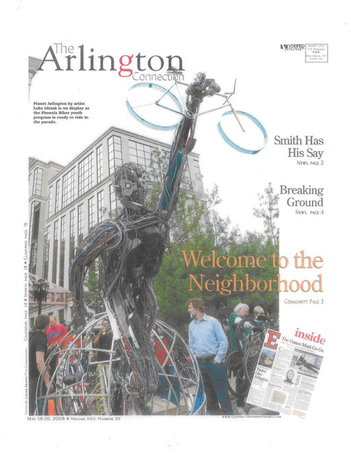 Cyborg rearing its head in: The Arlington Connection Newspaper, Welcome to the Neighborhood!