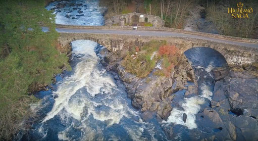 Falls of Dochard, Schottland Reise, Highland Saga,