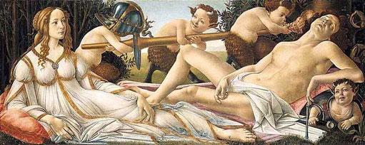 Vénus-Mars de Boticelli