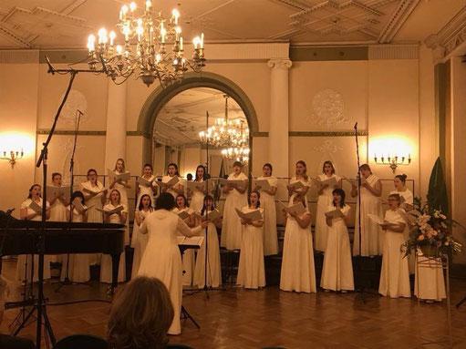 """Der Frauenchor """"Balta"""", in dem auch Josephine Metasch singt"""