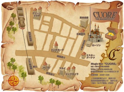 宝の地図イラストマップ