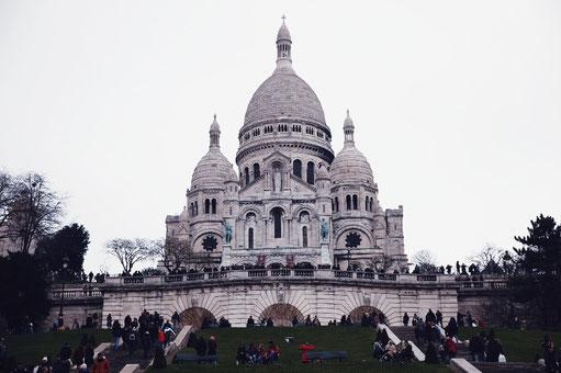 Sacré Coeur Basilica, Montmartre, Paris, architectur, cathedral