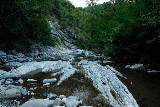 River hiking trail at the Gorges of the Straits of Giaredo, Italy, lonelyroadlover