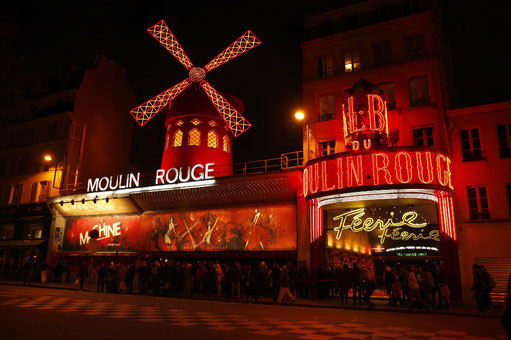 Das Varieté Moulin Rouge in Paris
