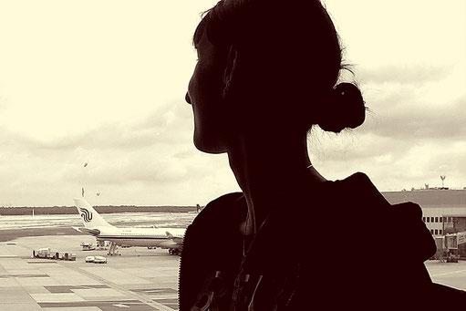 Reisen, Bloggerin, Flughafen, Besitz