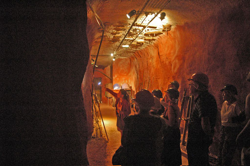visite guidée de la mine avec Julie