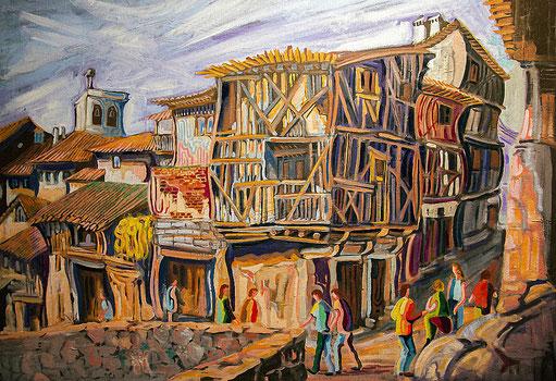 LASENJA (LA ALBERCA). Oil on canvas. 73 x 100 x 3,5 cm.