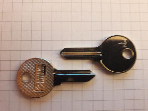 HEKNA Möbelzylinder Schlüssel Nach Nummer HN1