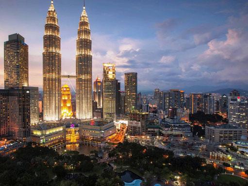 Bruisend Kuala Lumpur in West-Maleisië