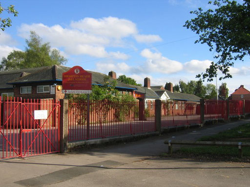 Highters Heath School. © Copyright David Stowell and licensed for reuse under Creative Commons Licence: Attribution-Share Alike 2.0 Generic. Geograph OS reference SP0879