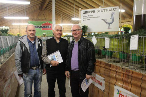 v.l. Hans Hilcz, Max Böck und Heinz Speidel
