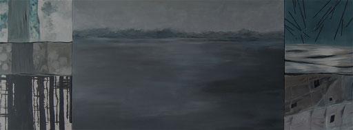 Acryl auf Leinwand, 340 x130 cm