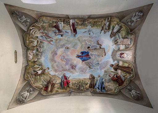 Bóveda pintada, pintura mural, pintura ornamental, pintur al fresco