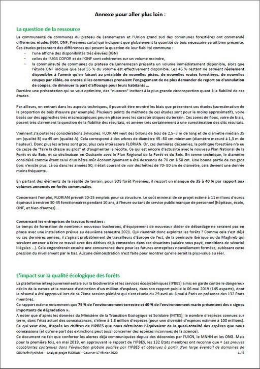 Courrier aux élus communaux, communautaires, départementaux et régionaux par SOS Forêt Pyrénées-P5