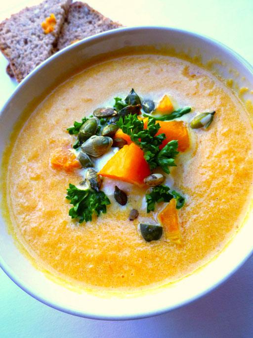 gresskar suppe oppskrift halloween