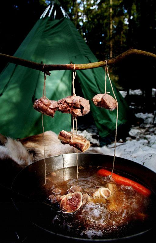 samisk reinsdyr gryte oppskrift