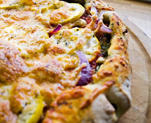 vegetarpizza oppskrift