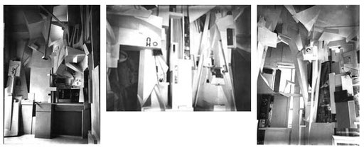 Diese drei Fotografien mussten Peter Bisegger bei seiner Rekonstruktion des Merz-Baus 1981-83 reichen