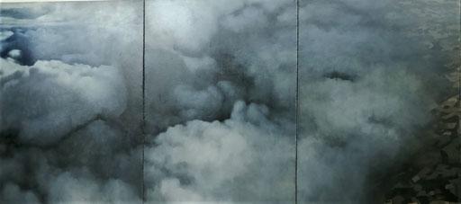 Ranka Radovanovic, Do Not Walk Outside This Area, 2007, Öl auf Leinwand, 5-teilig, 220 x 800 cm (Detail)